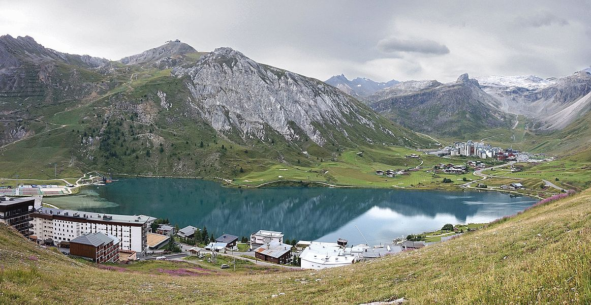 Lac de Tignes, France. View from north to the south.