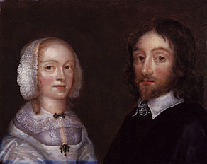Lady Dorothy Browne (née Mileham); Sir Thomas Browne by Joan Carlile.jpg