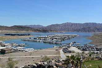 Callville, Nevada - Callville Bay on Lake Mead pictured; Callville was submerged under the lake.