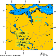 Lambert Projection showing the Ekati and Diavik Diamond Mine, near Barthurst Inlet, Nunavut.png