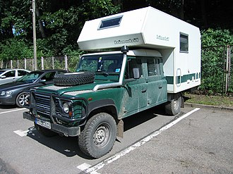 "Land Rover Defender - 127"" chassis with double cab and bimobil camper module"
