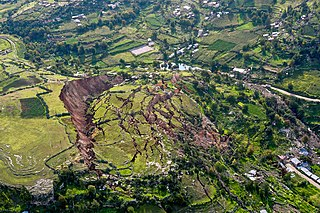 Landslide type of natural disaster, geological phenomenon