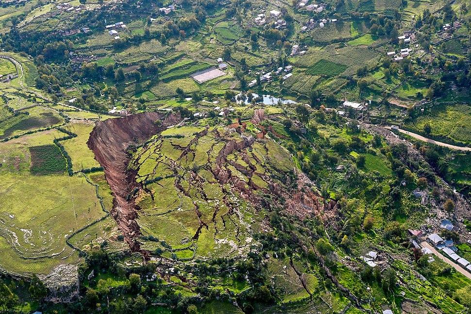 Landslide in Cusco, Peru - 2018