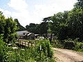 Lane ^ bridge over former railway, near Creigiau Farm - geograph.org.uk - 2486747.jpg