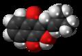 Lapachol molecule spacefill.png