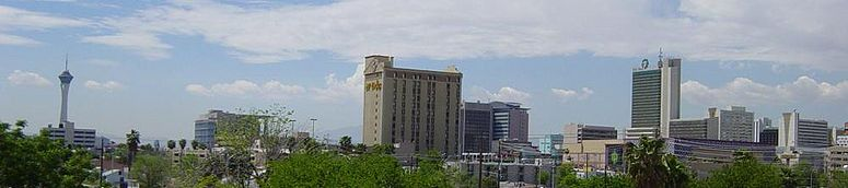 Downtown Las Vegas, Nevada, as seen from U.S. Highways 93 & 95