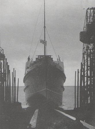 SS Tynwald (1936) - Tynwald is launched at Barrow-in-Furness, 16 December 1936.