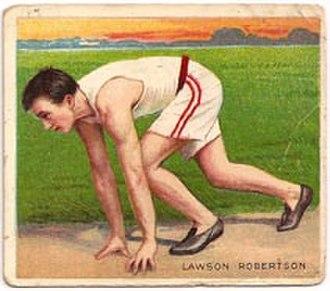 Lawson Robertson - Image: Lawson Robertson 1910 Mecca card front