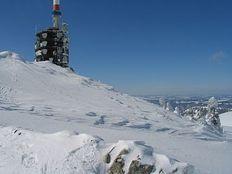 Chasseral - The Chasseral summit in winter