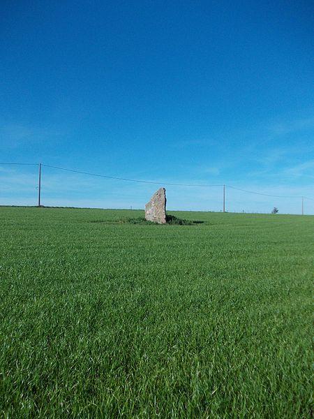 Le menhir d'Ozo, près d'Izier (Durbuy), vue du sud-est