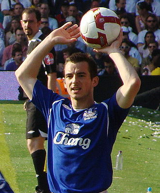 Leighton Baines - Baines playing for Everton in 2009