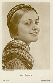 Lien Deyers Dutch film actress