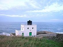 Lighthouse, Harkess Rocks - geograph.org.uk - 273283.jpg