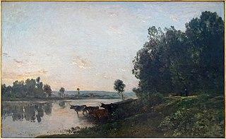Soleil levant, bords de l'Oise
