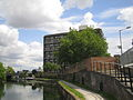 Limehouse Cut, at the A12 bridge.jpg