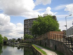 Limehouse Cut, at the A12 bridge