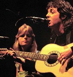 Linda mccartney and husband paul 1976
