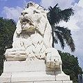 Lion guard statue in front of Victoria Memorial, Kolkata, India.jpg