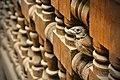 Little bird inside a balustrade in the Ben Youssef Madrasa, Morocco (1).jpg