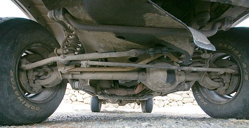 Live axle front suspension