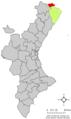 Localització de la Pobla de Benifassà respecte del País Valencià.png