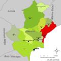 Localització del Campello respecte l'Alacantí.png