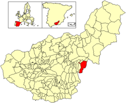 Location of Huéneja
