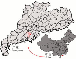 Location of Kaiping within Guangdong (China).png