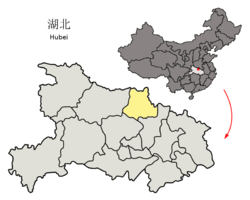 Location of Suizhou City in Hubei