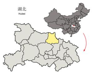 Suizhou - Image: Location of Suizhou Prefecture within Hubei (China)