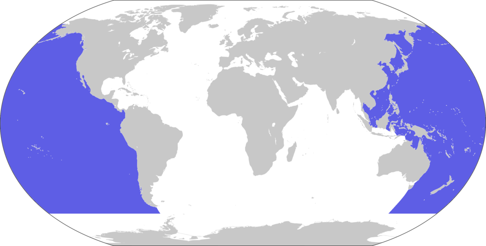Location of the Pacific Ocean