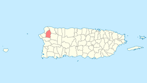 Location of Moca in Puerto Rico