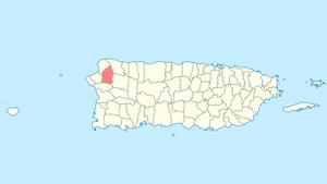 Moca, Puerto Rico - Image: Locator map Puerto Rico Moca