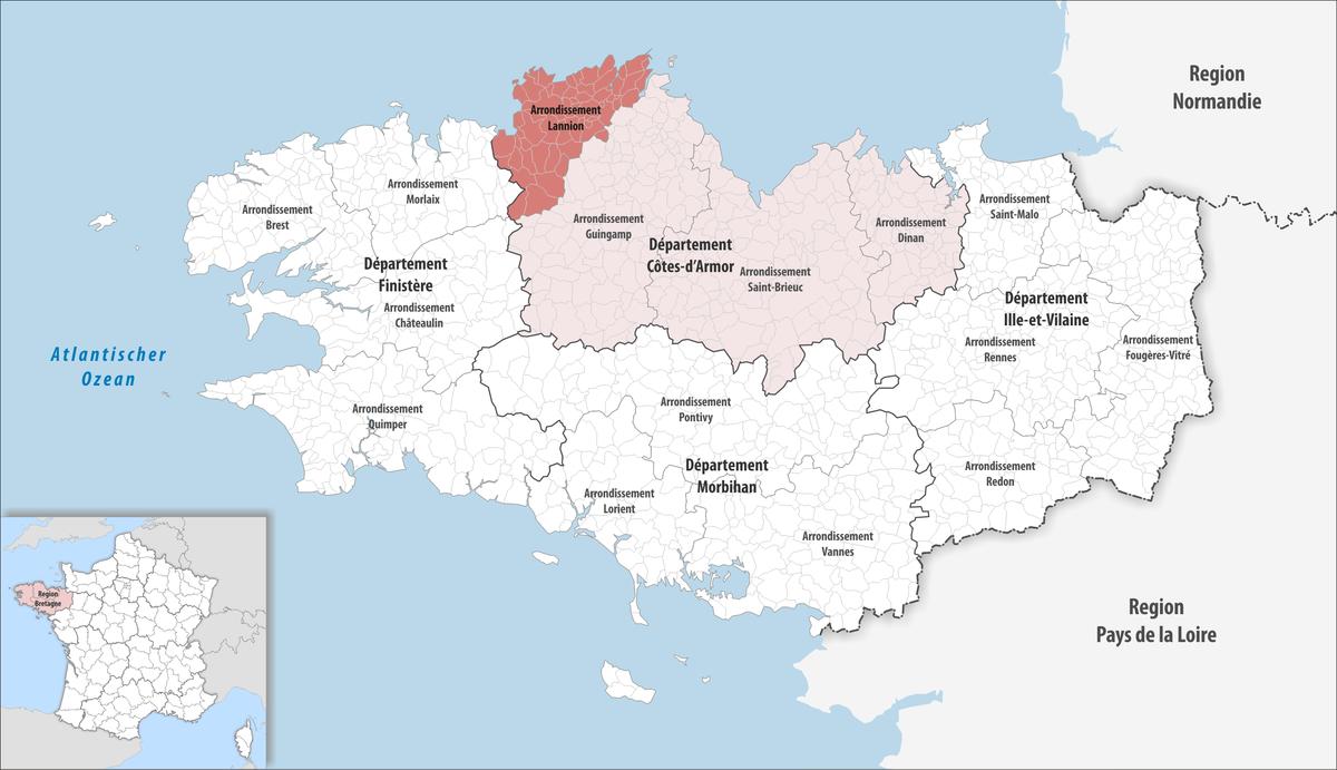 Arrondissement de lannion wikip dia - Comptoir metallurgique de bretagne lannion ...
