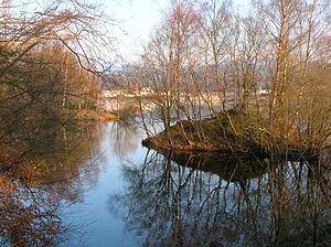 Balloch, West Dunbartonshire - Image: Lochside view Balloch