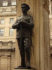 London Troops memorial, Infantry figure