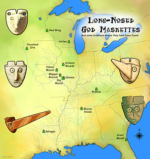 Long-nosed god maskette