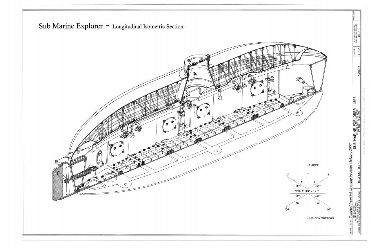 File Longitudinal Isometric Section Sub Marine Explorer