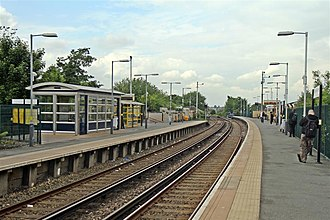 Bootle New Strand railway station - Image: Looking north, Bootle New Strand Railway Station (geograph 2995598)