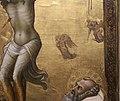 Lorenzo monaco, francesco d'assisi, benedetto da norcia e romualdo ai piedi del crocifisso, 1405-07 (alternburg, lindenau-museum) 04 angeli a graffito.jpg