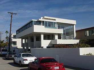 Rudolph Schindler (architect) - Lovell Beach House, Newport Beach, Balboa, California, designed by Rudolph Schindler in 1922