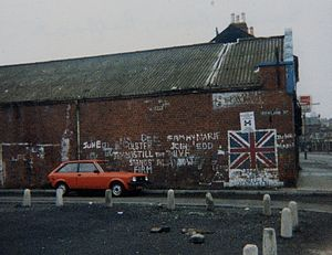 Murder of Ann Ogilby - Sandy Row, south Belfast, where loyalist paramilitaries have always had a strong presence since the early days of the Troubles