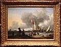Ludolph backhuysen, olandesi che si imbarcano su uno yacht, 1670-80 ca.jpg