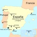 Lugares de trascendencia del primer viaje de Colón en España y Portugal.png