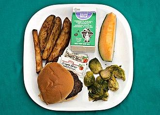 School meal - A school lunch in Washington, D.C.