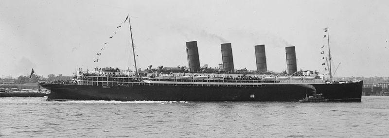 Fájl:Lusitania arriving in New York 2.jpg
