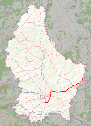 A1 motorway (Luxembourg) - Image: Luxembourg A1