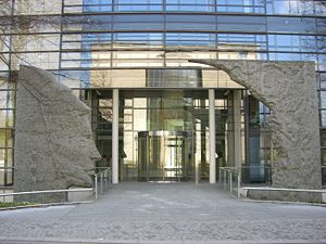 Max Planck Society - Entrance of the administrative headquarters of the Max Planck Society in Munich