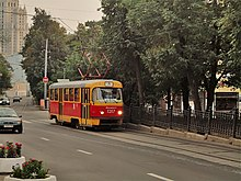 From t3su to mttd on the historic boulevard ring tram line in moscow