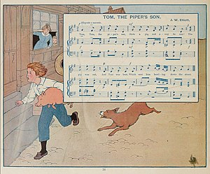 Mabel Betsy Hill - Full-page illustration by Mabel Betsy Hill for The Most Popular Mother Goose Songs (1915).